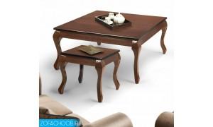 میز جلو مبلی و عسلی صفحه چوبی