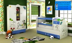 سرویس خواب نوزاد - نوجوان 101 سگ خالدار