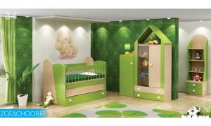 سرویس خواب نوزاد کلبه